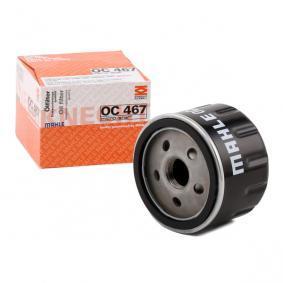 Filtro olio OC 467 con un ottimo rapporto MAHLE ORIGINAL qualità/prezzo