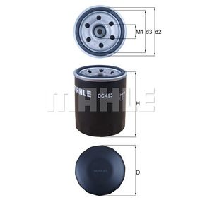 buy and replace Oil Filter MAHLE ORIGINAL OC 495