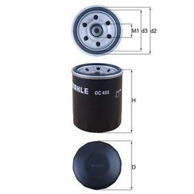 Kúpte a vymeňte Olejový filter MAHLE ORIGINAL OC 495
