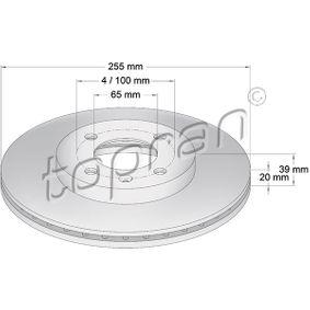 Bremsscheibe von TOPRAN - Artikelnummer: 103 408