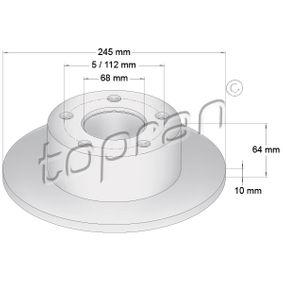 Bremsscheibe von TOPRAN - Artikelnummer: 103 757