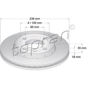 Bremsscheibe von TOPRAN - Artikelnummer: 104 027