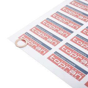 TOPRAN уплътнителен пръстен, пробка за източване на маслото 104 474 купете онлайн денонощно