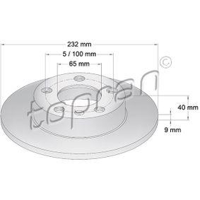 Disco de travão 107 683 TOPRAN Pagamento seguro — apenas peças novas