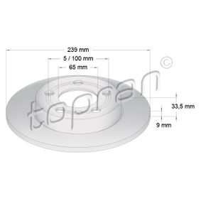 Bremsscheibe von TOPRAN - Artikelnummer: 109 789