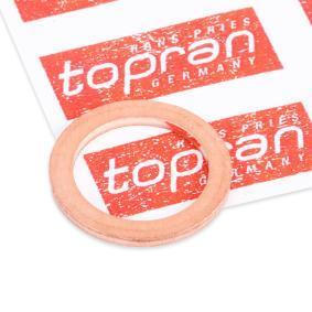 Αγοράστε TOPRAN Στεγανοποιητικός δακτύλιος, τάπα εκκένωσης λαδιού 400 307 οποιαδήποτε στιγμή
