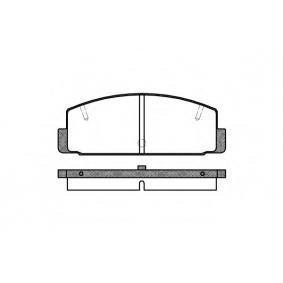 комплект спирачно феродо, дискови спирачки SAKURA S6013550 купете и заменете