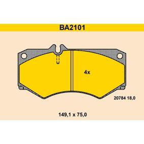 комплект спирачно феродо, дискови спирачки BA2101 с добро BARUM съотношение цена-качество