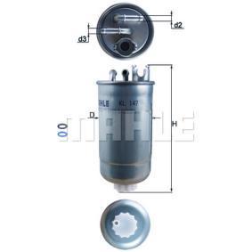 KL 147D Filtre à carburant MAHLE ORIGINAL Test