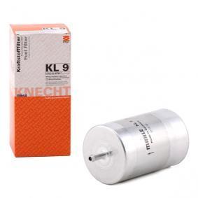Filtro carburante KL 9 con un ottimo rapporto MAHLE ORIGINAL qualità/prezzo