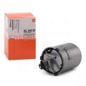 palivovy filtr KL 497D s vynikajícím poměrem mezi cenou a MAHLE ORIGINAL kvalitou