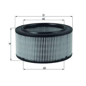 Luftfilter LX 260 som är helt MAHLE ORIGINAL otroligt kostnadseffektivt
