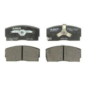 комплект спирачно феродо, дискови спирачки C14013ABE с добро ABE съотношение цена-качество