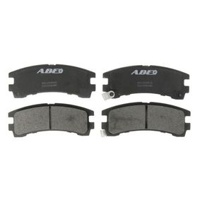 комплект спирачно феродо, дискови спирачки C21028ABE с добро ABE съотношение цена-качество