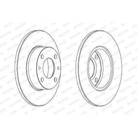 Disque de frein DDF083 FERODO Paiement sécurisé — seulement des pièces neuves