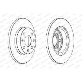 Brake Disc DDF116 FERODO Secure payment — only new parts