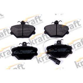 Compre e substitua Jogo de pastilhas para travão de disco KRAFT K6003060