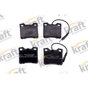 kjøpe KRAFT Bremsebelegg sett, skivebremse K6011095 når som helst