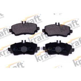 kjøpe KRAFT Bremsebelegg sett, skivebremse K6001250 når som helst