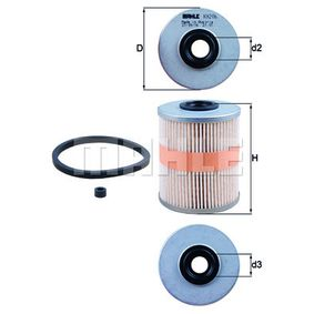 buy and replace Fuel filter KNECHT KX 206D