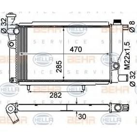 Radiateur, refroidissement du moteur 8MK 376 715-384 HELLA Paiement sécurisé — seulement des pièces neuves