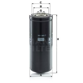 Bestil WH 980/7 MANN-FILTER Filter, arbejdshydraulik nu