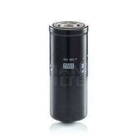 Comandați WH 980/7 MANN-FILTER Filtru, sistem hidraulic primar acum