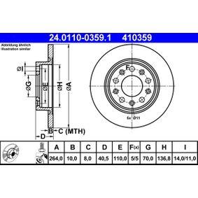 Disco freno 24.0110-0359.1 con un ottimo rapporto ATE qualità/prezzo