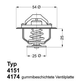 Køb WAHLER Termostat, kølemiddel 4174.88D