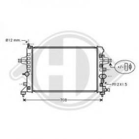 Radiatore, Raffreddamento motore 8180604 con un ottimo rapporto DIEDERICHS qualità/prezzo