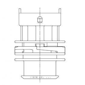 1928403453 Connettore femmina, Impianto accensione BOSCH - Prezzo ridotto