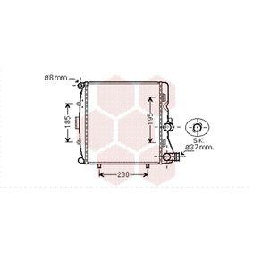 Radiatore, Raffreddamento motore VAN WEZEL 74002054 comprare e sostituisci