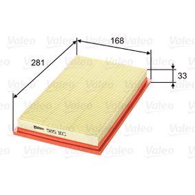 въздушен филтър 585103 с добро VALEO съотношение цена-качество