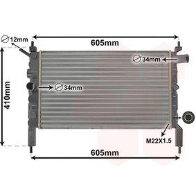 Radiatore, Raffreddamento motore 37002023 con un ottimo rapporto VAN WEZEL qualità/prezzo