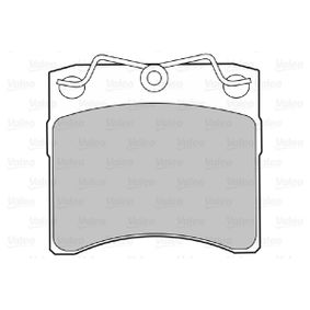 comprare VALEO Kit pastiglie freno, Freno a disco 598048 poco costoso