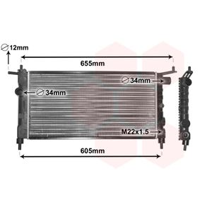 Radiatore, Raffreddamento motore 37002183 con un ottimo rapporto VAN WEZEL qualità/prezzo