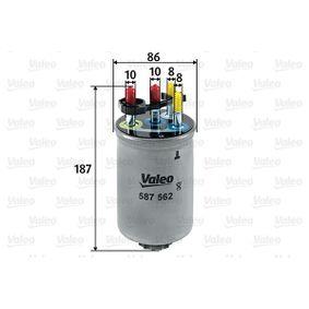 Kupte a vyměňte palivovy filtr VALEO 587562