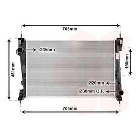 Radiatore, Raffreddamento motore 01002123 con un ottimo rapporto VAN WEZEL qualità/prezzo