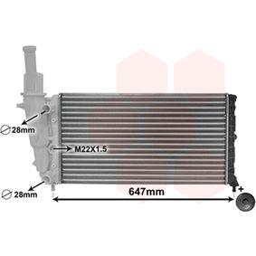 Radiatore, Raffreddamento motore VAN WEZEL 17002140 comprare e sostituisci