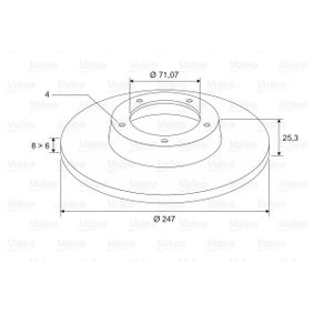 Brake Disc 186416 VALEO Secure payment — only new parts