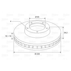 Brake Disc 186523 VALEO Secure payment — only new parts