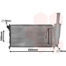 Radiatore, Raffreddamento motore 17002218 con un ottimo rapporto VAN WEZEL qualità/prezzo