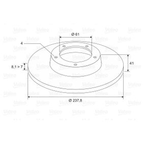 Disco de travão 186228 VALEO Pagamento seguro — apenas peças novas