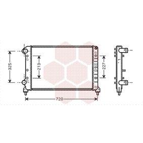 Radiatore, Raffreddamento motore 17002261 con un ottimo rapporto VAN WEZEL qualità/prezzo