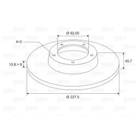 Disco de travão 186151 VALEO Pagamento seguro — apenas peças novas