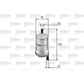 palivovy filtr 587021 VALEO Zabezpečená platba – jenom nové autodíly
