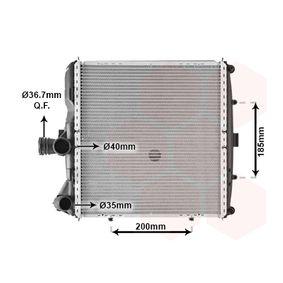 Radiatore, Raffreddamento motore VAN WEZEL 74002055 comprare e sostituisci