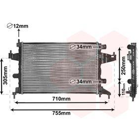 Radiatore, Raffreddamento motore 37002303 con un ottimo rapporto VAN WEZEL qualità/prezzo