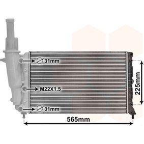 Radiatore, Raffreddamento motore 17002139 con un ottimo rapporto VAN WEZEL qualità/prezzo