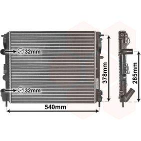 Radiatore, Raffreddamento motore VAN WEZEL 43002269 comprare e sostituisci
